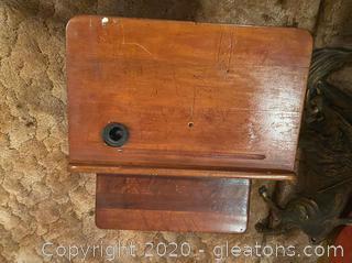 Antique Iron School Desk
