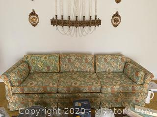 Vintage 1970's Floral Couch