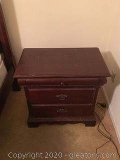 Universal Furniture 3 Drawer Nightstand (B)
