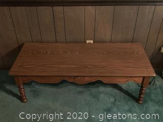 Vintage Hard Wood Coffee Table