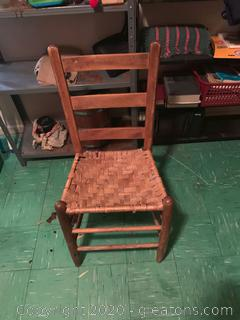 French Style Vintage Straw Chair