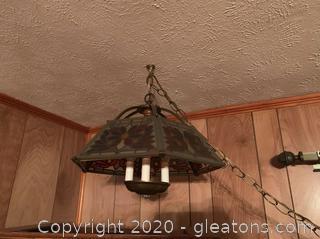 Vintage Modulite Hanging Swag Lamp