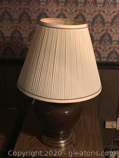 Large Brown Vintage Table Lamp