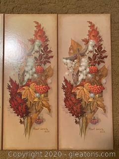 Vintage Robert Laessig A.N.A Retro Floral Prints