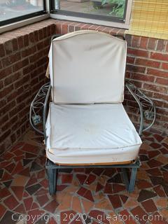 Wrought Iron Patio Chair (B)