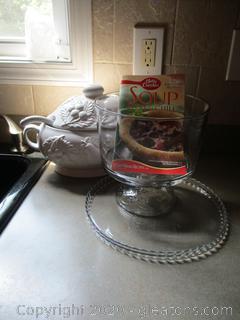 Trifle, Platter, & Soup Tureen Lot