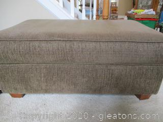 Large Brown Upholstered Ottoman