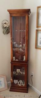 Narrow Curio Cabinet with Light