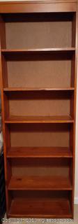 Solid Wood Bookcase - 5 Adjustable Shelves