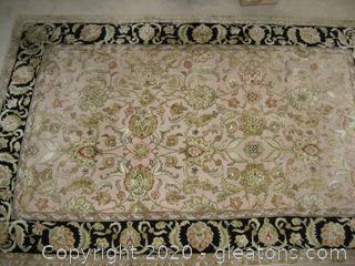Marcella Fine Rugs Handmade Wool and Rayon Tufted Area Rug