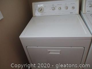 White Kenmore 90 Series Dryer - Model # 669,66932691