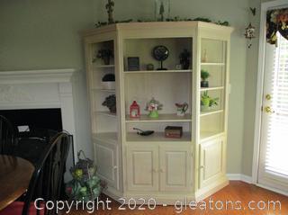 3 Piece Bookcase - Whitewashed/Pickled Oak Finish
