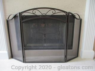 3 Sided Fireplace Screen (A)