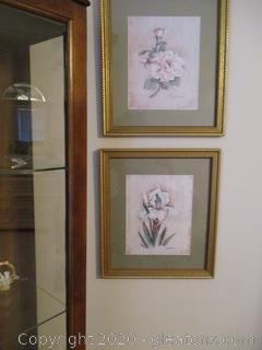3 Framed Flower Pictures