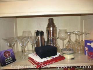 Huge Bar Set + Silver Plate Wine Stopper