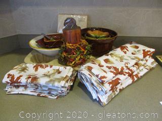 Autumn Kitchen Lot - 16 Pieces