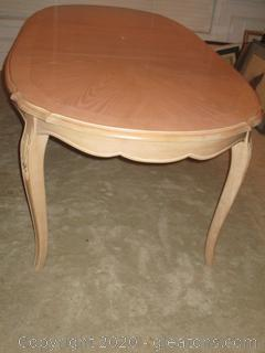 French Country Oval Dining Table - Blond Ash Finish