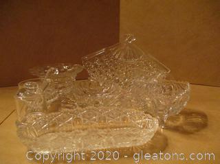 Crystal Serving Pieces - 11 Piece Lot