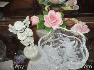 Pink Rose & Cherub Lot
