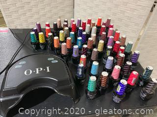 OPI Light Lamp UV Gel Nail Polish Dryer and OPI Gel Polish Collection