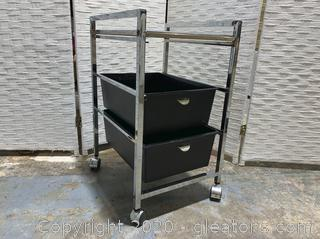 Rolling Cabinet with Drawers A