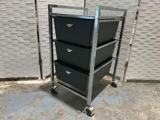 Rolling Cabinet with Drawers B