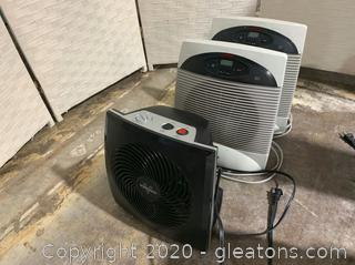 Vornado & Holmes Heaters (C) Set of 3