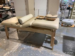 Golden Ratio Woodworks Adjustable Massage Table