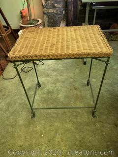 Metal Wicker Side Table