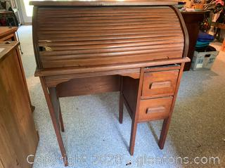 Child's Roll Top Desk