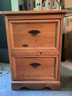 Mexican Rustic Wood File Cabinet