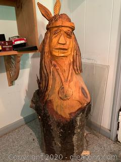 Carved Wooden Native American ART