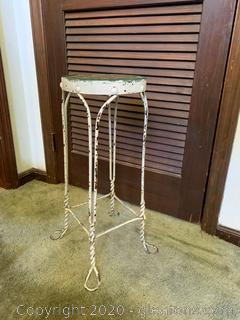 Retro Ice Cream Parlor Side Table