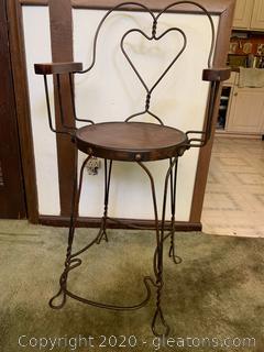 Retro Ice Cream Parlor Chair (C)