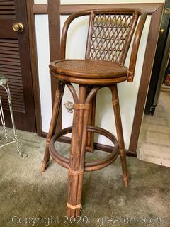 Bamboo Swivel Bar Stools (C)