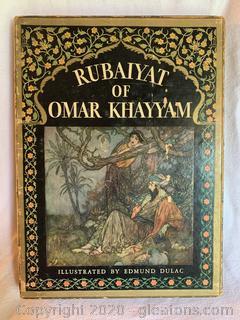 Rubaiyat of Omar Khayyam English Verse Edward Fitz Gerald Book