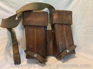 German Leather Ammunition Belt
