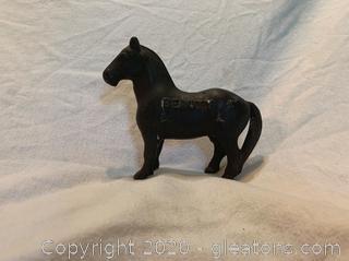 Vintage Cost Iron Horse Piggy Bank