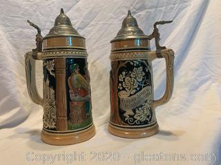Reinhold Merklebach Pair of Beer Steins