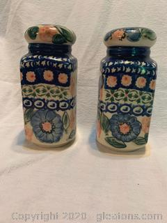 Polland Pottery Salt + Pepper Shakers
