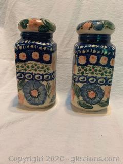 Polland Pottery Salt + Pepper Shakers