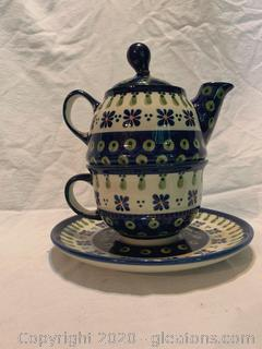 Polland Pottery Tea for One