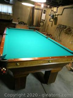 The National MFG.Co Pool Table 1890's