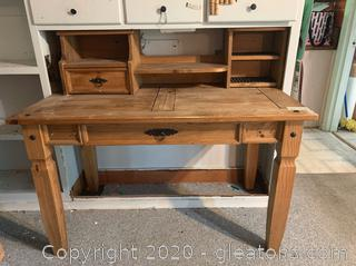 Mexican Rustic Wood Desk