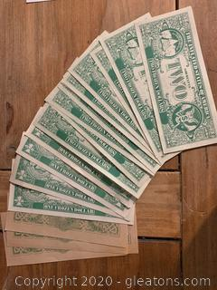 Anti Nixon $2 & $1 Bills and $50 Confederate Bills