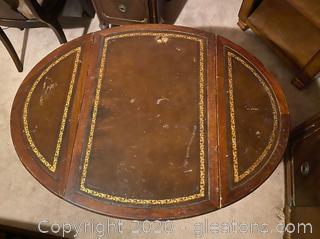Antique Drop Leaf End Table