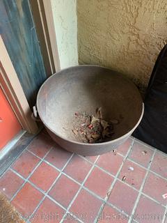 Large Antique Iron Cauldron