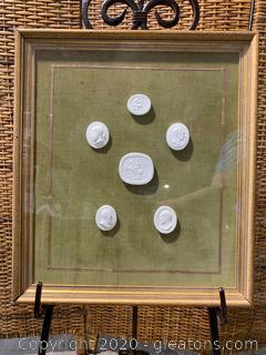 Framed Greek/Roman Plaster Castings