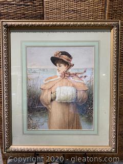 Framed Print by C.H.Boughton