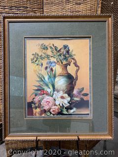 Framed Print Still Life Vase with Flowers